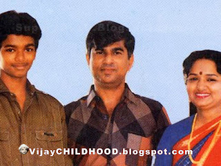 kollywood Tamil super actor vijay with his parents