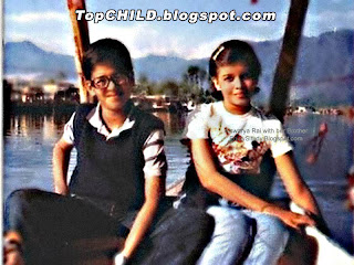 aishwarya rai  boating in kashmir lake alongwith her brother