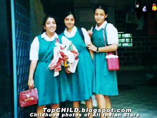 Thrisha krishnan  with her classmates