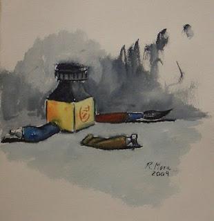 aquarel·la, acuarela, watercolor, aquarelle, tinter, ink, rmora, roger mora