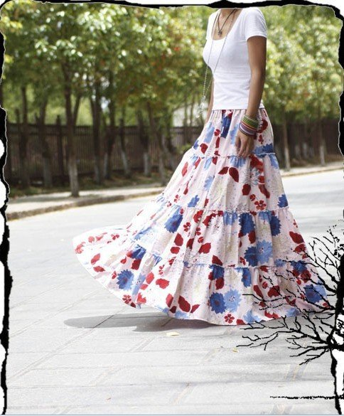 Cool  Long Skirt For Muslim Women Linen Skirt Women Long Plain Long Skirt