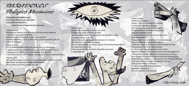 Poster-Poema Paradoxos de Silas Correa Leite