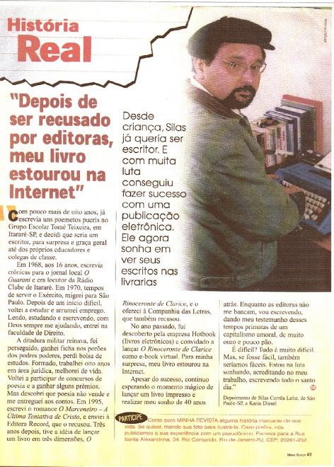 Silas Correa Leite em Reportagem na Minha Revista, Rio de Janeiro