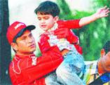 Sachin Tendulkar With His Son Arjun Tendulkar