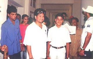 Sachin Tendulkar With his fans