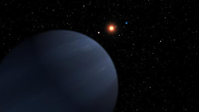 artist's rendition of a multi-planet system