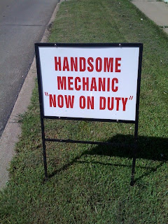 Handsome-Mechanic-Now-On-Duty-Sign-Advertisement