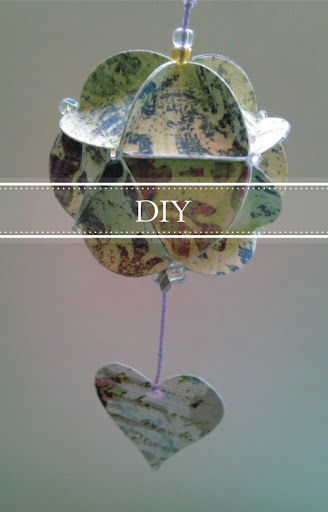 DIY + Bola de papel decorativa