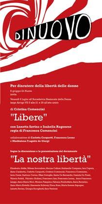 """vai al video: """"Libere. La Nostra Libertà"""""""