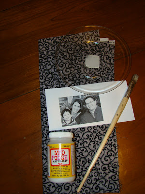 grandparent gift idea how to make a photo plate