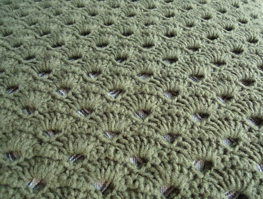 Crochet Shell Stitch - adding a little more.