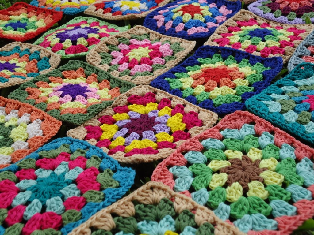 Crochet Stitches To Join Granny Squares : Stitch of Love: Crochet Granny Squares: WIP