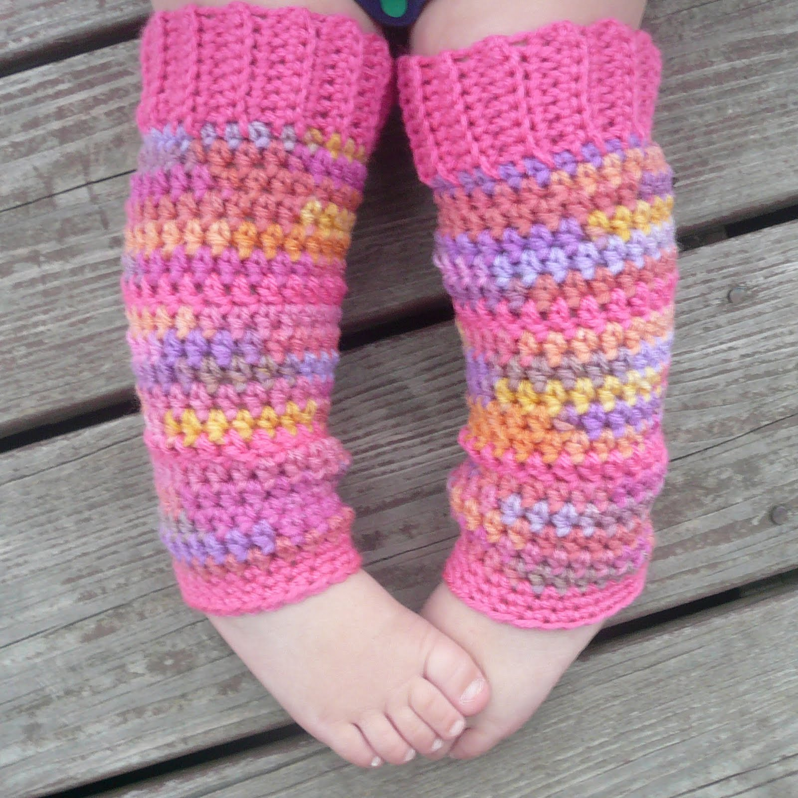 Free Crochet Pattern Leg Warmers Child : Danyel Pink Designs: CROCHET PATTERN - Baby Legwarmers