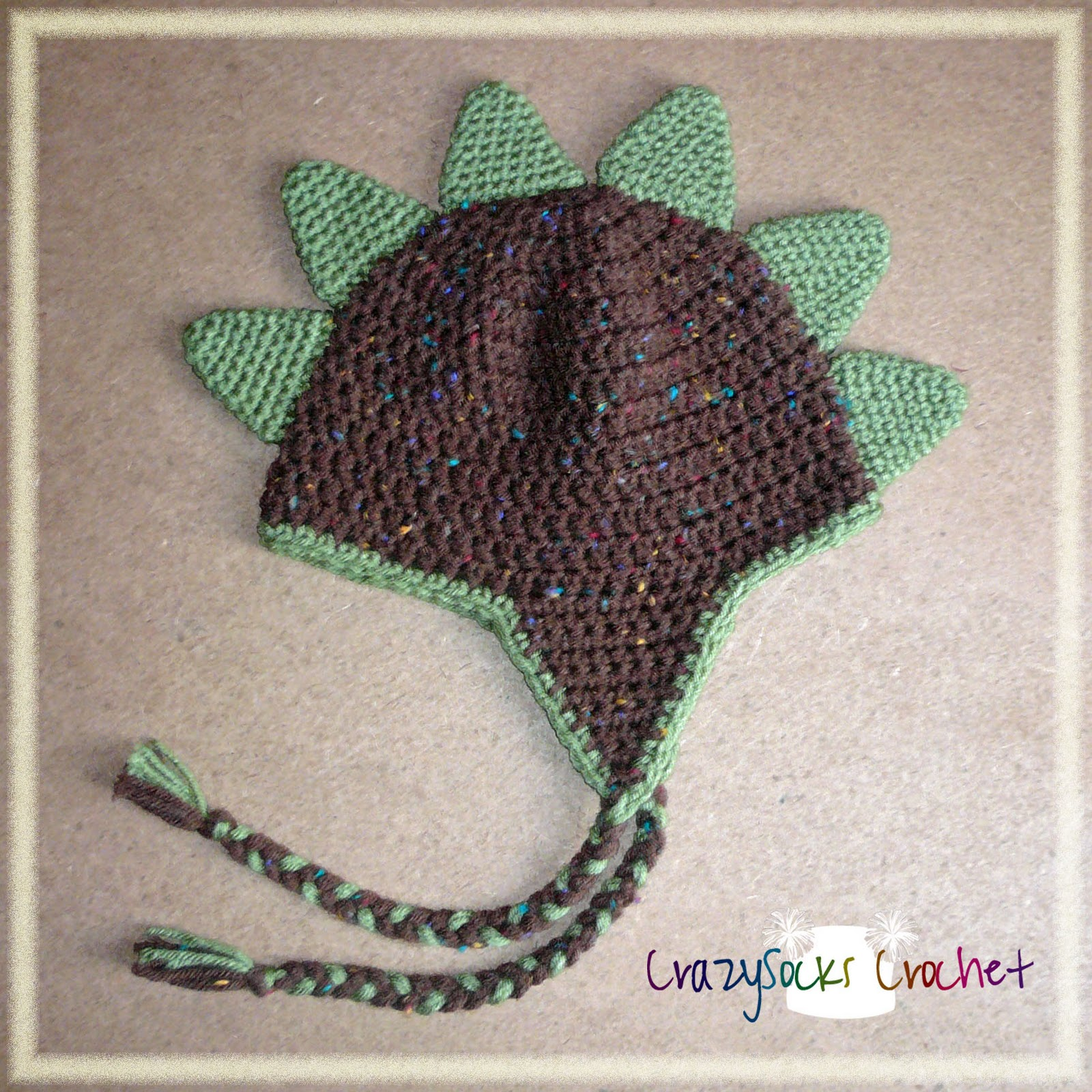 Crochet Pattern For Baby Dinosaur Hat : Danyel Pink Designs: CROCHET PATTERN - Dinosaur Spikes