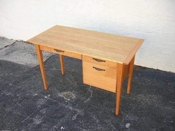Custom desk in Cherry