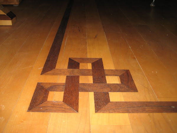 Walnut Inlay in Maple Floor