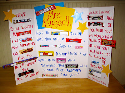 Candy Gram for Teacher Appreciation Ideas