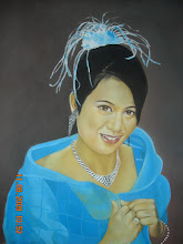 potret warna oil pastel RM400 tempahan utk satu wajah