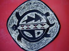 Turtle Sgraffito Small Plate