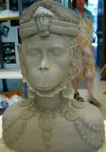 Hanuman (greenware)