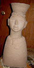 African with Basket on Head (in progress)