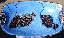 Three fish in a Light Blue Sea