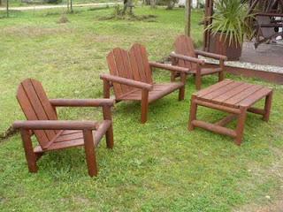 La madera y sus creaciones juego para jard n en tronco - Muebles cabrera huelva catalogo ...