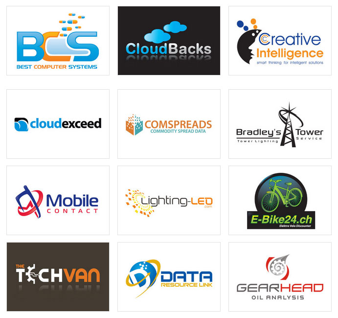 tech company logo design
