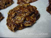 Chocolate Peanut Butter Oatmeal No Bake Cookies