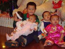 Samuel with some of the babies