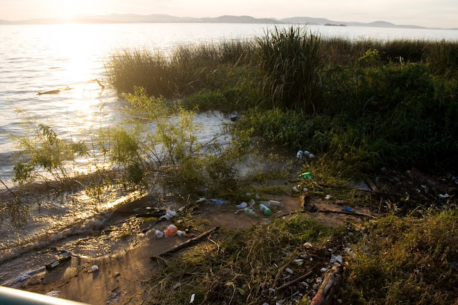 Lixo no rio