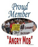 "If exercising democracy at town hall meetings is being an ""angry mob"" then we're proud members."