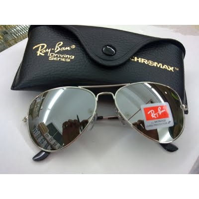ray ban chrome mirror aviators
