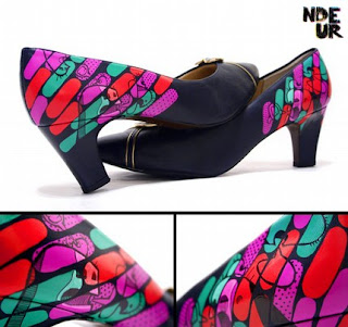 ndeur painted shoe art