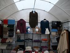 Alpaca store in a tent