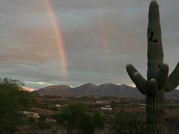 Rainbow over the Huachuca Mtns.