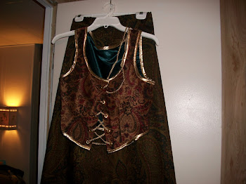 Renaissance vest and skirt