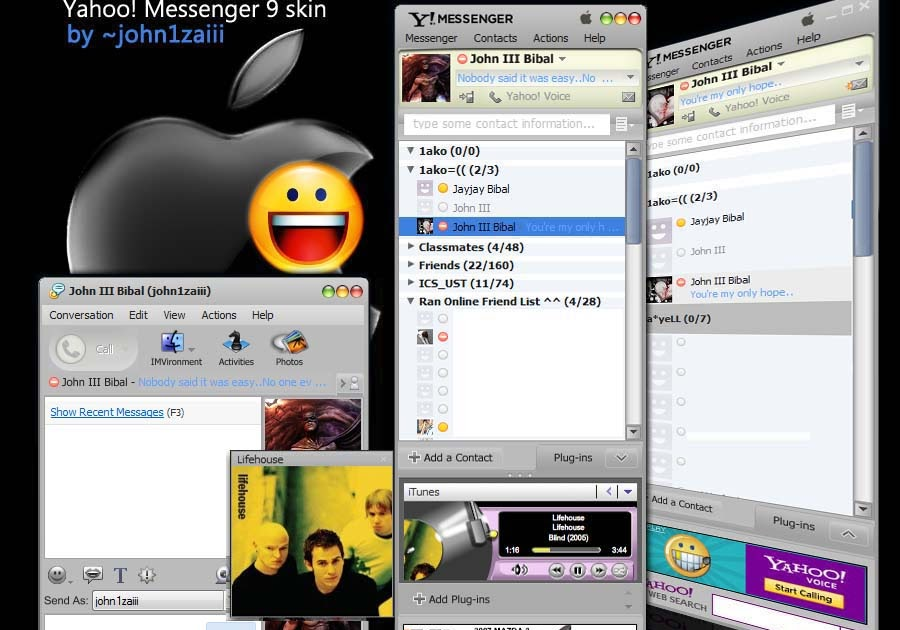Yahoo Messenger Skins Available for Free Download