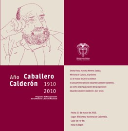 Convenio REDNEL Colombia|Ministerio de Cultura • Año Caballero Calderón 1910-2010