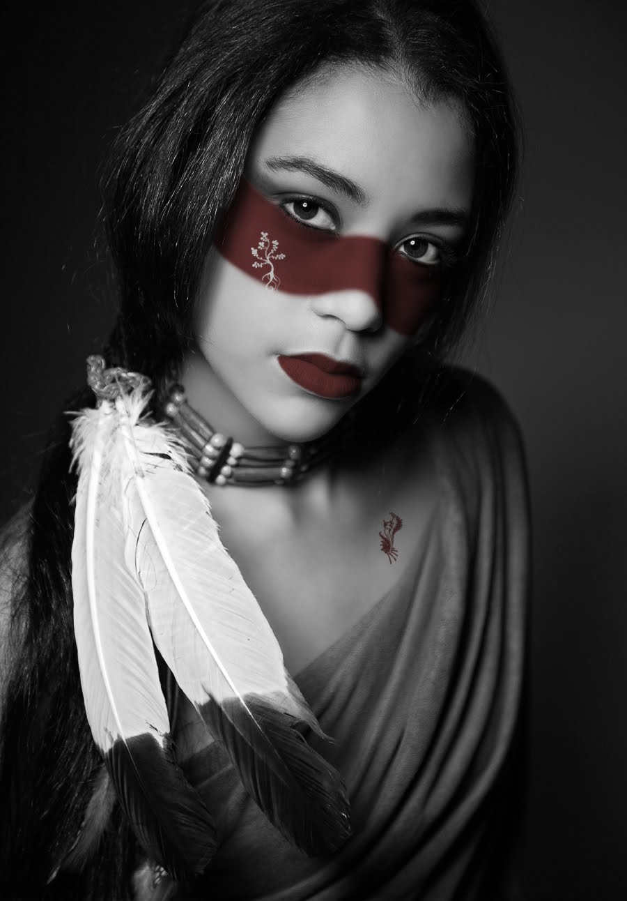 Фото девушка в образе индианки 30 фотография