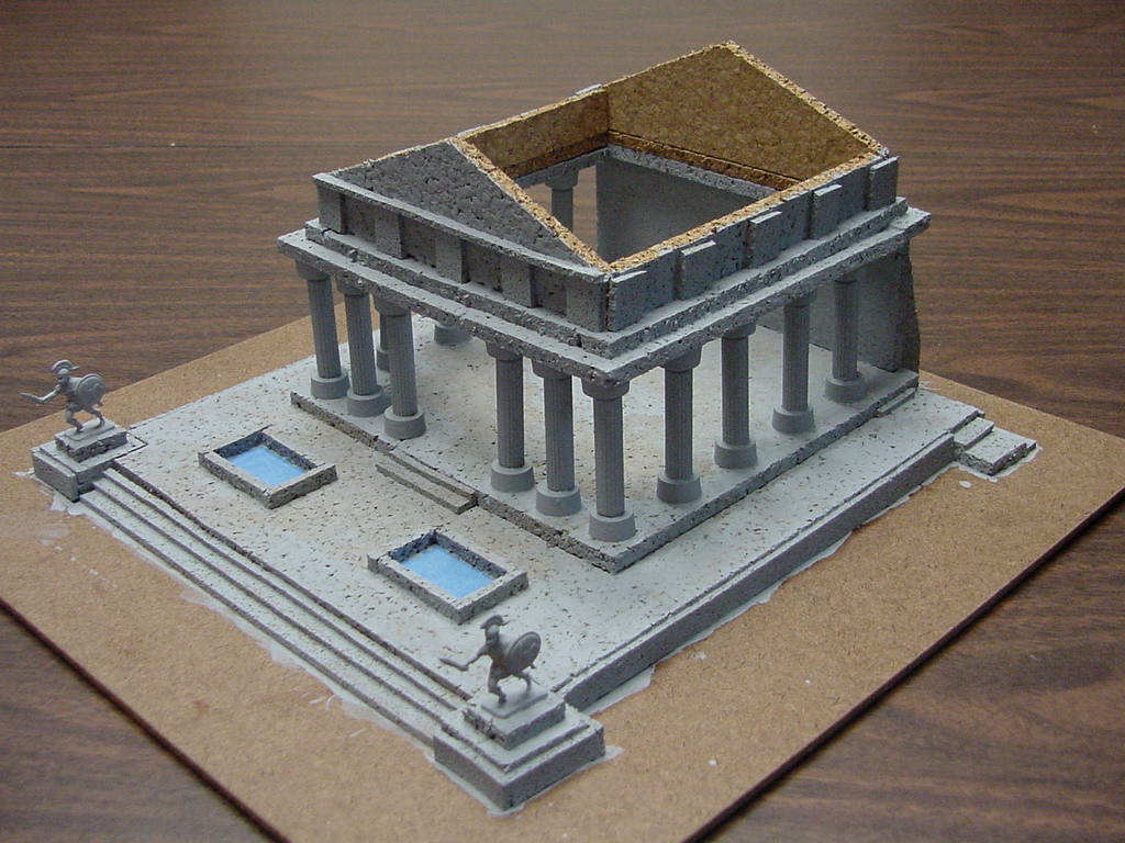 Din of battle making a 15mm greek temple for How to make paper temple