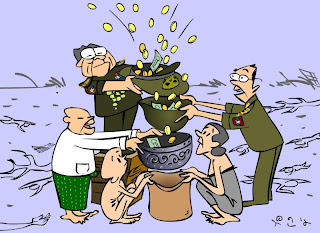 >Cartoon Beruma – Save the Generals first and they will save Burma ( later …) !!!