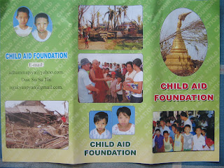 >Burmese Monks Group announced Children Aid Foundation for Nargis affected area