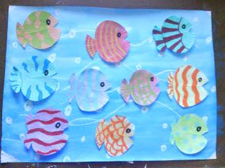 Kids craft directory friday book project ten little fish for Ten little fish