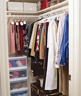 Organized Bedroom Closet | organizingmadefun.com