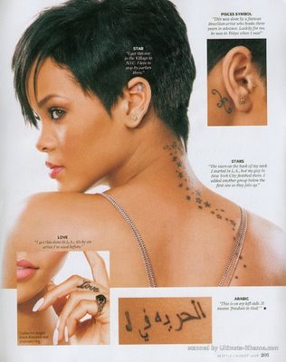 Rihannas Diffrent Tattoos