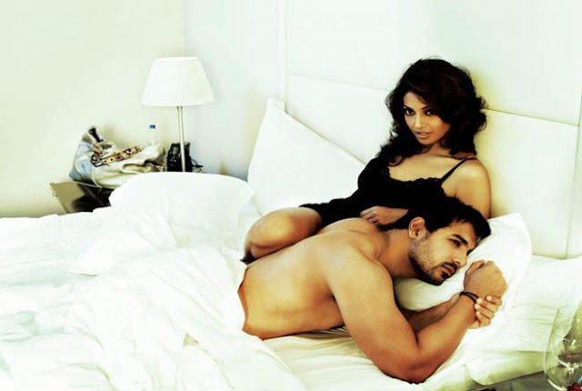John Abraham and Bipasha Basu in Bedroom