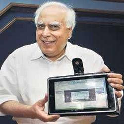 1500 Rs laptop in hands of Kapil Sibal