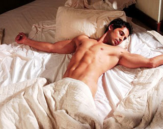 Dino Morea Topless on Bed