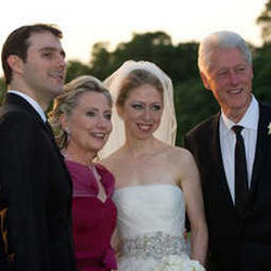 From Left side-Marc Mezvinsky,Hillary Clinton,Chelsea Clinton and Bill Clinton